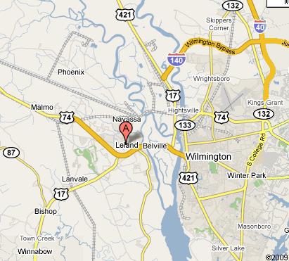 google map leland