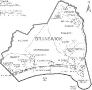 brunswick county map